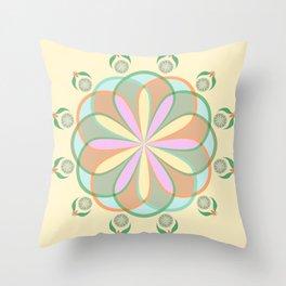 Pastel Floral Flower Modern Pattern Design Throw Pillow