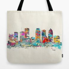 Tampa Florida skyline Tote Bag