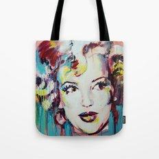 Merylin Monroe cinema and pop culture icon - portrait Tote Bag