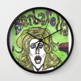 Barbarella Psychadela! Wall Clock