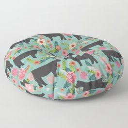 Show Steer cattle breed floral animal cow pattern cows florals farm gifts Floor Pillow