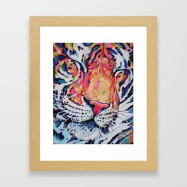 A moment of peace - Tiger painting Framed Art Print