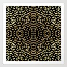Art Deco Gold Art Print