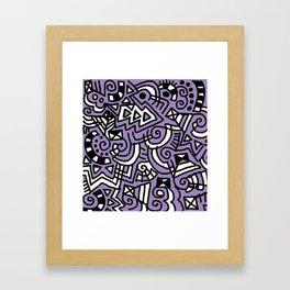 The Purple Doodle Framed Art Print