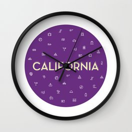 069 travel to California Wall Clock