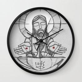 Jesus Christ Eucharist illustration Wall Clock