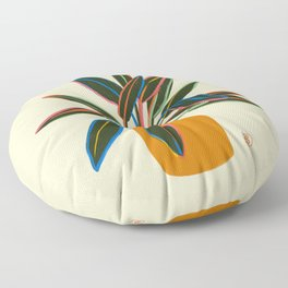 PLANT WITH COLOURFUL LEAVES  Floor Pillow