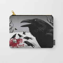 """""""Murder!"""" She Crowed (Gray) Carry-All Pouch"""