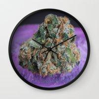 medical Wall Clocks featuring Jenny's Kush Medical Marijuana by BudProducts.us