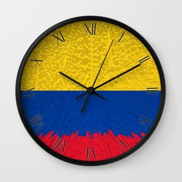 Extruded flag of Columbia Wall Clock