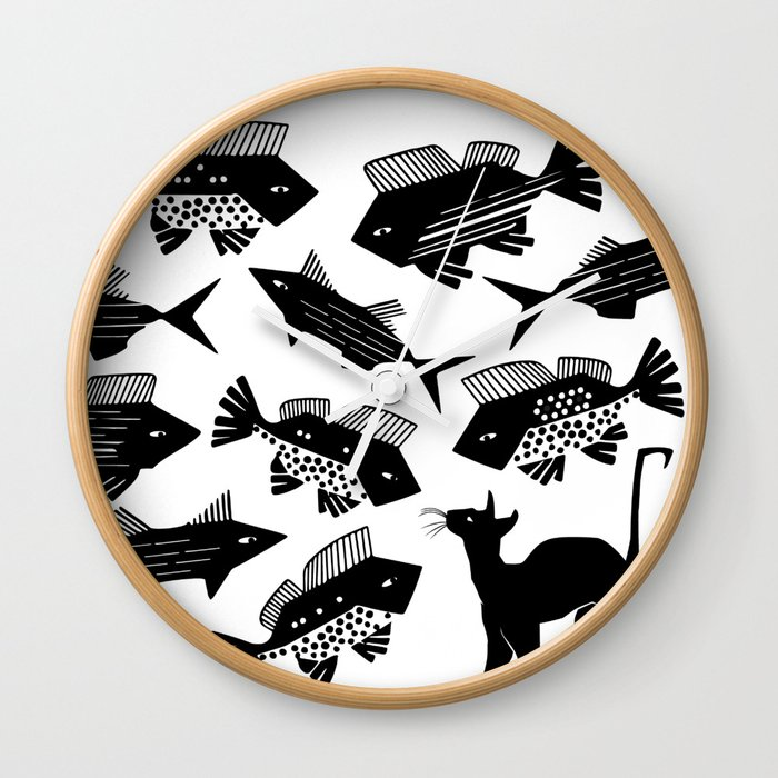 Cat Fish -The Other Side of Eve Wall Clock