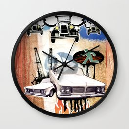COLLAGE: Cars Wall Clock