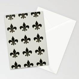 Fleur de lis.... ivory,gold and black Stationery Cards