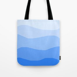 The Hills Have Spines - Blue Tote Bag
