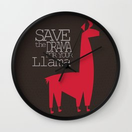 Save the Drama for your Llama Wall Clock