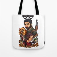 the last of us Tote Bags featuring The Last of Us by Warbunny