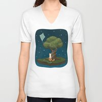le petit prince V-neck T-shirts featuring Le Petit Renard by Pretty Good Monsters