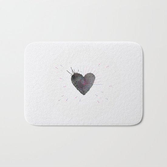 your heart is my target Bath Mat