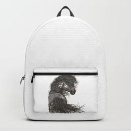 Gorgeous Black Horse Backpack