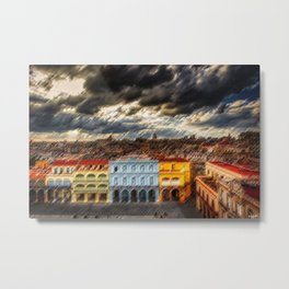 Havana, Cuba Landscape Painting Metal Print