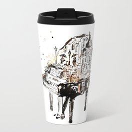 Piano, vintage watercolor piano Travel Mug