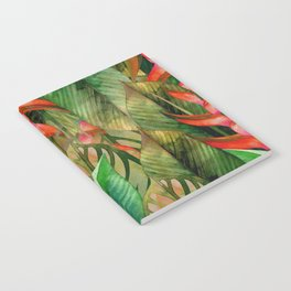 Painted Jungle Leaves 2 Notebook