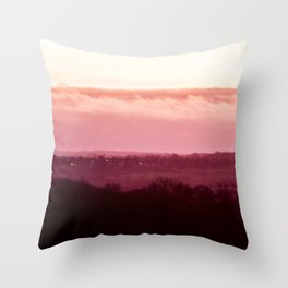 Sunset in Pink bywhacky Throw Pillow
