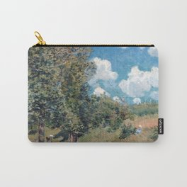 Alfred Sisley The Road from Versailles to Saint-Germain Carry-All Pouch