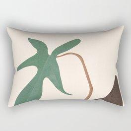 Minimal New Leaf Rectangular Pillow