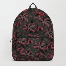 Snake Palms - Dark Vintage Coral Backpack
