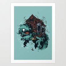 Squirtl Art Print