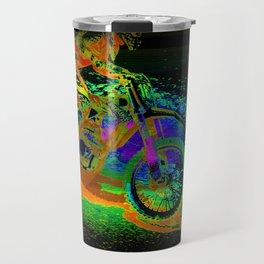 Race to the Finish! - Motocross Racer Travel Mug