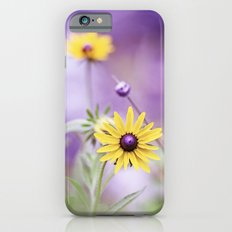 Purple Yellow Flower Photography, Violet Floral Green Nature iPhone 6s Slim Case