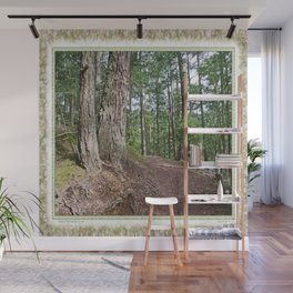 WOODED PATHWAY BY THE LAKE Wall Mural