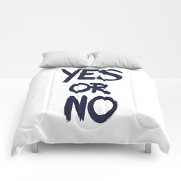 yes or no Comforters