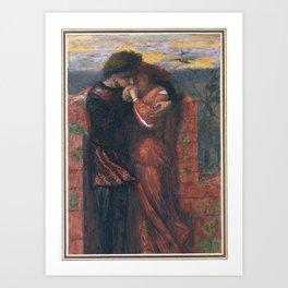Dante Gabriel Rossetti 1828–1882   Carlisle Wall (The Lovers) Art Print