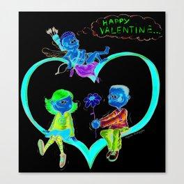 Valentine love Canvas Print