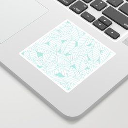 Leaves in Ocean Sticker