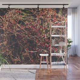 Red Spikes Wall Mural