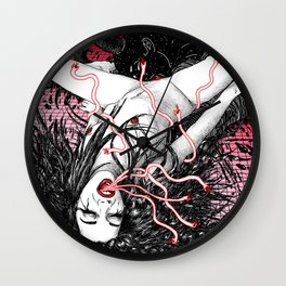 Wine At Pigalle Wall Clock