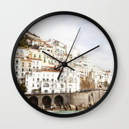 The Amalfi Coast / Italy - travel photography Wall Clock