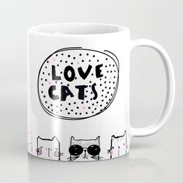 Love Cats Coffee Mug
