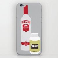 vodka iPhone & iPod Skins featuring Vodka & Aspirin by Tristan Graham