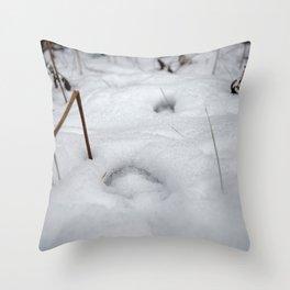 Foot Prints Throw Pillow