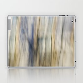 Soft Blue and Gold Abstract Laptop & iPad Skin