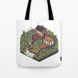 Squared Landscape III Tote Bag
