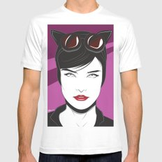 Nagel Style Cat Burglar Mens Fitted Tee SMALL White