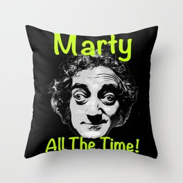 Marty All The Time Throw Pillow