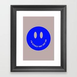 Very very sad Framed Art Print