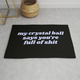 my crystal ball Rug